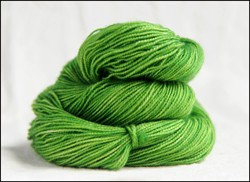 'Lime' Semi-Solid Vesper Sock Yarn Dyed to Order