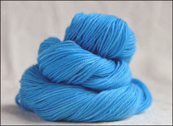 'Sky Blue' Semi-Solid Vesper Sock Yarn DYED TO ORDER