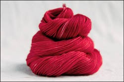 'Cherry Red'  Vesper Sock Yarn DYED TO ORDER