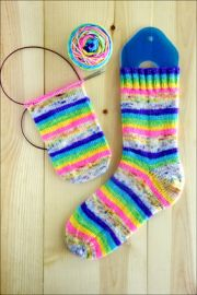 .'UNICORN MAGIC' Vesper Sock Yarn STRIPES & SPECKLES DYED TO ORDER