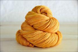 .'Golden Pumpkin' October 2019 Semi-Solid Vesper Sock Yarn DYED TO ORDER