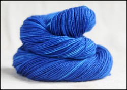 'Deep Blue'  Vesper Sock Yarn DYED TO ORDER