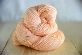 'Peach' June 2020 Semi Solid Vesper Sock Yarn